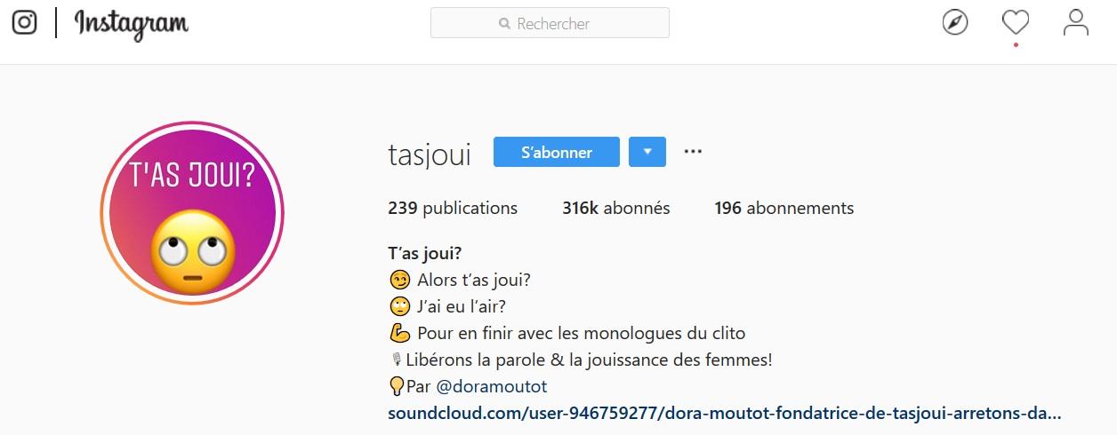 instagram t as joui